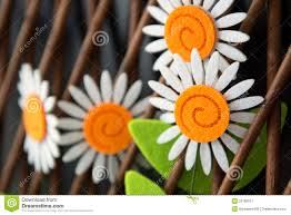 craft daisies in wooden trellis stock image image 29798911