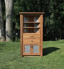 Barnwood Cabinet Doors by Rustic Corner Cabinet Reclaimed Barn Wood W Barn Tin 6202