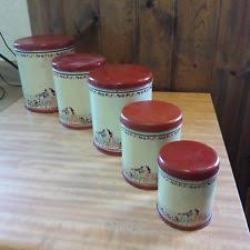 tin kitchen canisters tin canister set ebay