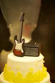 guitar cake topper birthday cake guitar shape