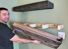 diy wood floating shelf how to make one projects pinterest