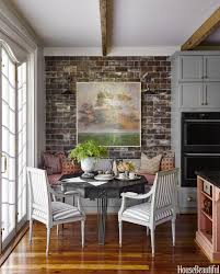 kitchen style eclectic eat in kitchen brick wall victorian style