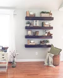 Livingroom Design by Floating Shelves My Home Pinterest Shelves Decorating And