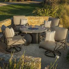 Costco Patio Furniture by Travers 5 Piece Fire Pit Set