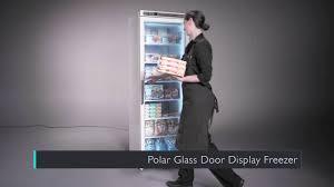 glass door chest freezer polar glass door display freezer cb921 youtube