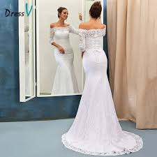 half lace wedding dress dressv ivory lace mermaid wedding dress 2017 the