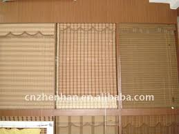 Cord Lock Roman Shade - white color cord lock and cord pulley to bamboo blinds woven wood