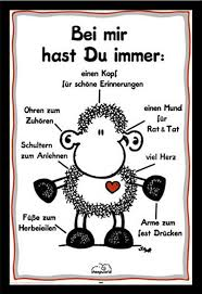 ohne dich ist alles doof spr che sheepworld immer poster 61x91 5
