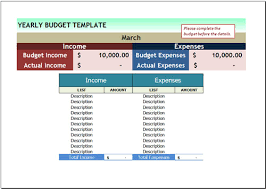 Excel 2007 Budget Template Free Yearly Budget Template For Excel 2007 2016