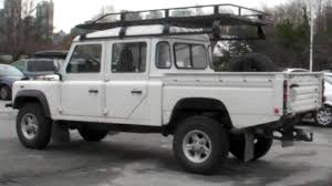 white land rover defender land rover defender 130 nice youtube