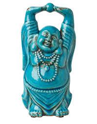 crackle buddha decoration turquoise statues indiska com