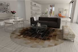 Brown Round Rugs Round Beige And Brown Leather Area Rug Shine Rugs