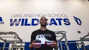 oakland high school yearbook damian lillard returns to oakland high school to give back