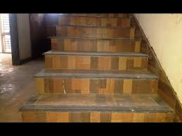 budget simple u0026 nice staircase design with color tiles youtube
