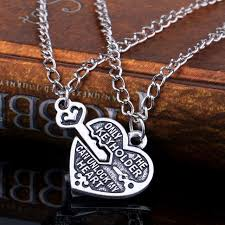locket necklace aliexpress images 1 pair new 1 pair heart key locket necklace collar best friends jpg