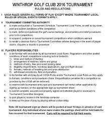 Golf Tournament Sign Up Sheet Template Wgc Tournament And Regulations Winthrop Golf