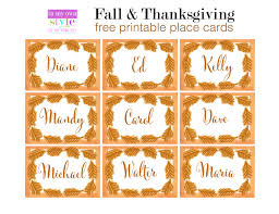 10 minute decorating thanksgiving place cards in my own style