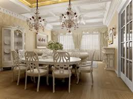 themed dining room chic white themed dining room installed on wooden flooring