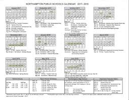 2017 2018 northton schools calendar do not use h
