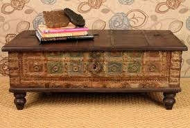 Decorative Trunks For Coffee Tables Antique Chest Coffee Table Rascalartsnyc