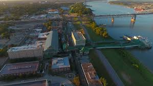 Louisiana travel videos images Drone footage new york city water sea skyscraper boat manhattan jpg