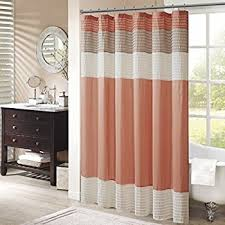 Pink And Orange Shower Curtain Amazon Com Interdesign Daizy Shower Curtain Gray And Coral 72 X