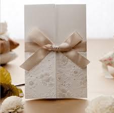 tri fold wedding invitations new arrival wedding cards 2016 cheap vintage embossed tri fold