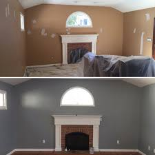 color benjamin moore 1606 cobblestone path before and after