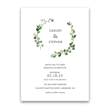 wedding invitations greenery greenery wedding invitation bohemian eucalyptus wreath