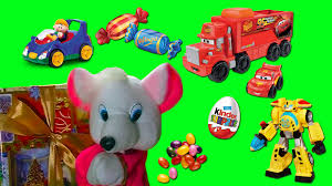 mouse surprise toys for little boys christmas gifts chocolate