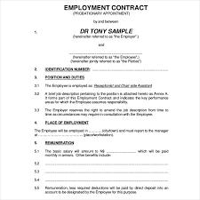 temporary employment contract template eliolera com