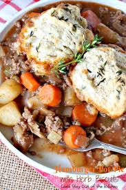 hamburger pot pie with herb biscuits can u0027t stay out of the kitchen
