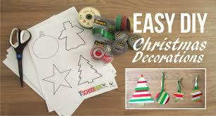 diy easy christmas decorations kids can make free printable