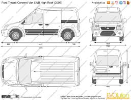 the blueprints com vector drawing ford transit connect van lwb