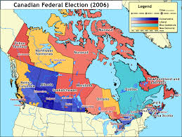 Map Canada by Results Of The Canadian Federal Election 2006 Wikipedia