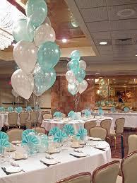 Tiffany Blue Wedding Centerpiece Ideas by Tiffany Blue U0026 White Balloon Centerpieces With Balloon Bases