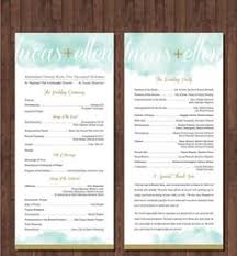 sle of wedding programs ceremony wedding program template chrysanthemum blue tea length