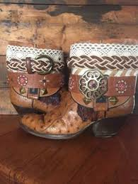 womens cowboy boots size 11 1 2 upcycled cowboy boots s size 7 1 2 calzado