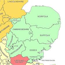 map of east uk kookaburra vets uk map
