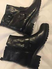 michael kors womens boots size 12 michael kors block biker boots for ebay