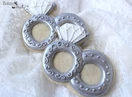 wedding rings decorated cookie wedding cookies ring cookies