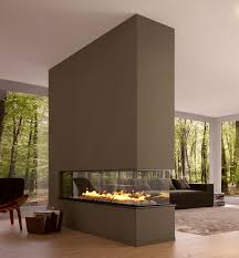 illustration of two sided fireplace warms spacious interior fascinating fireplaces modern design room divider eco house interior love this one the right place for the fire place and the best view ever