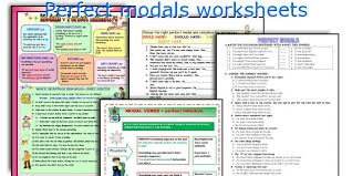 english teaching worksheets perfect modals