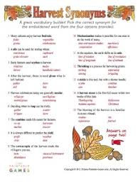 Decorations Synonym Harvest Synonym Game Games Pinterest Thanksgiving Words
