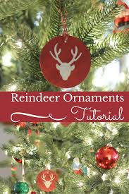 how to make easy wood reindeer ornaments through my front porch