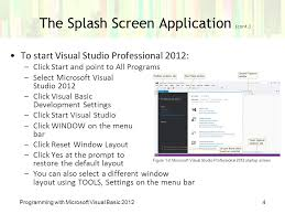 visual studio reset application settings chapter 1 an introduction to visual basic ppt video online download