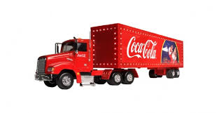 coca cola truck with light up trailer 1 43