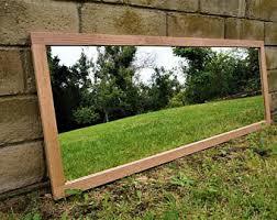 Oak Bathroom Mirrors - oak mirror etsy
