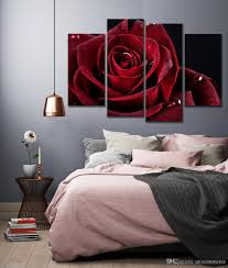 2017 wall decor canvas painting canvas art red rose digital