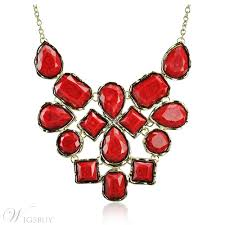 chunky fashion necklace images Fashion red color bubble collar chunky necklace concise bohemian jpg